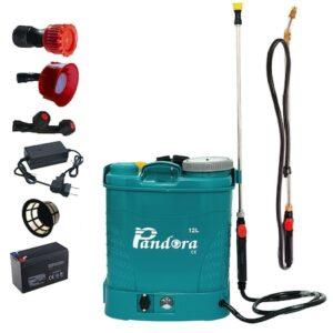 Set Pompa stropit electrica Pandora 12L + Lance Telescopica 2.8m, Vermorel cu acumulator