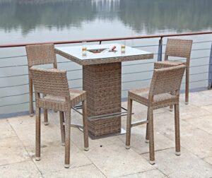 Set masa si 4 scaune pentru exterior Alvito