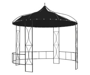 Pavilion, antracit, 300 x 290 cm, rotund