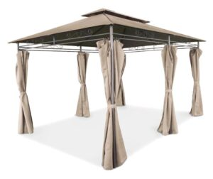 Cort Pavilion de Gradina, 6 pereti, 3x4 m, bej